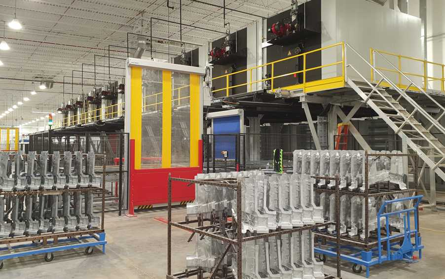 Heat treatment lines for aluminum