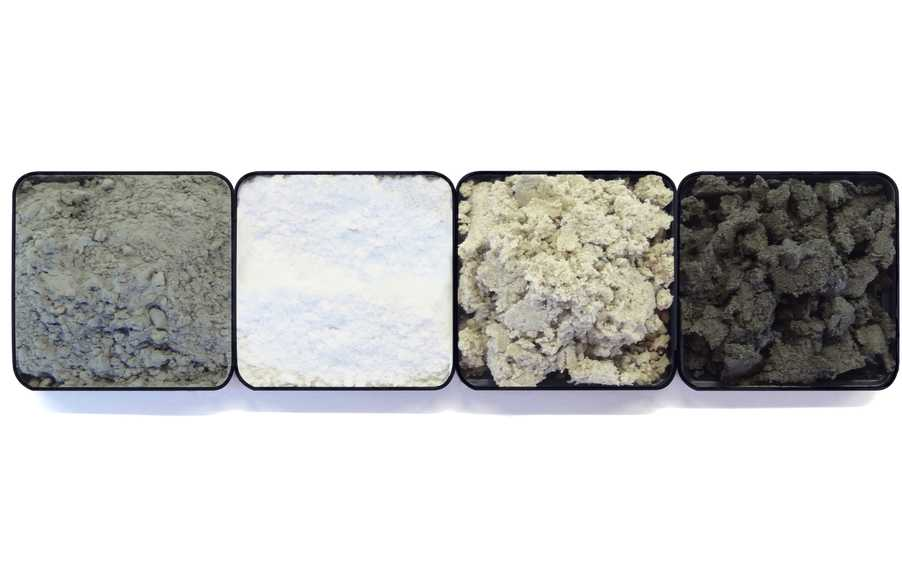 Powders and pastes